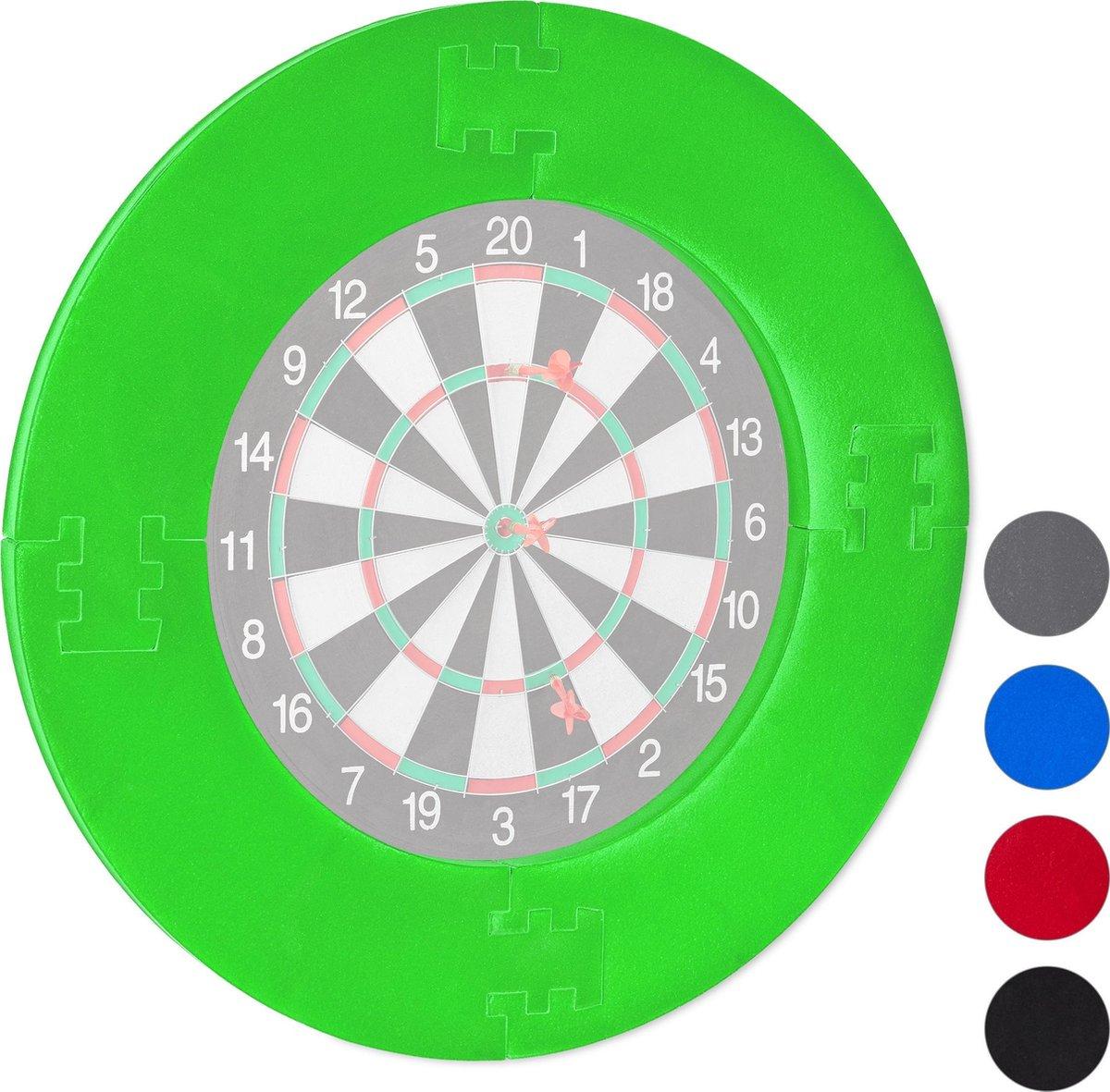 relaxdays dartbord surround ring - beschermring - bescherming voor muur - beschermrand groen