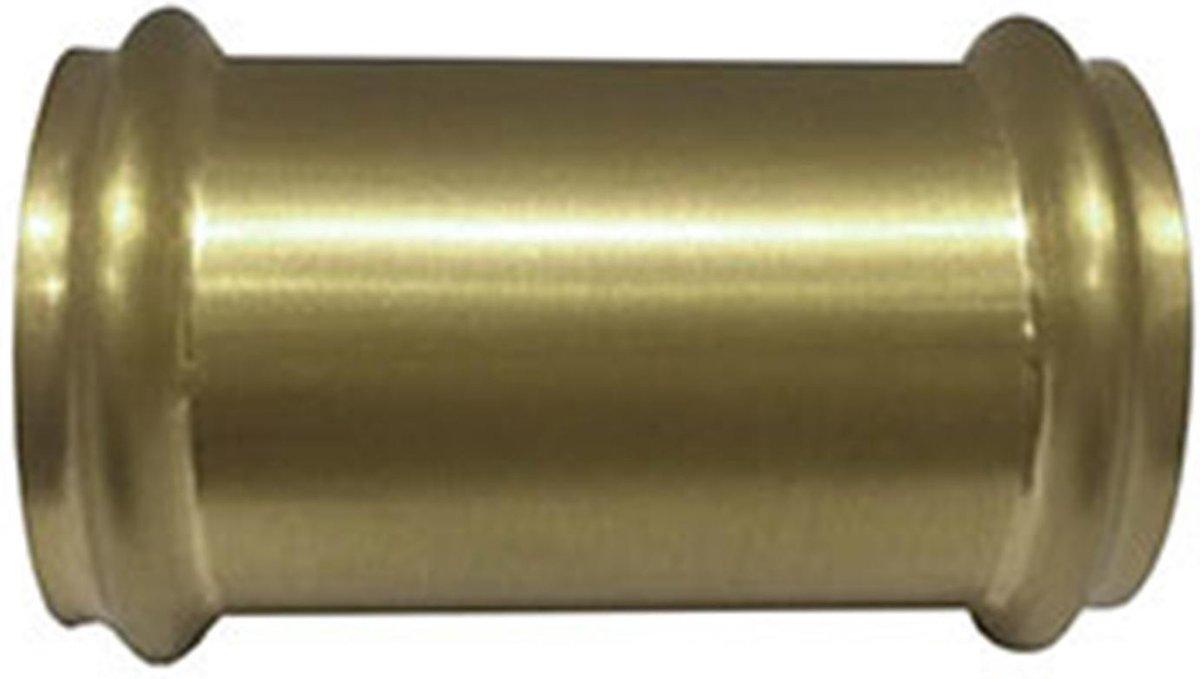 Wiesbaden koppelstuk 32mm tbv vloerbuis - Goud Look (Geborsteld Messing)