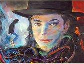 Michael Jackson- geschilderd portret - legend-  40X50CM- Diamond painting pakket - HQ Diamond Painting - VOLLEDIG dekkend - Diamant Schilderen - voor Volwassenen – ROND- Diamond DOTZ