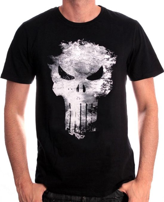 Merchandising MARVEL - T-Shirt Punisher Distress Skull - Black (L)