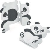 Sizzix Thinlits snijmal gevouwen panda kaart set x9