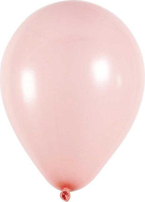 Creotime Ballonnen Voor Helium Lichtroze 10 Stuks