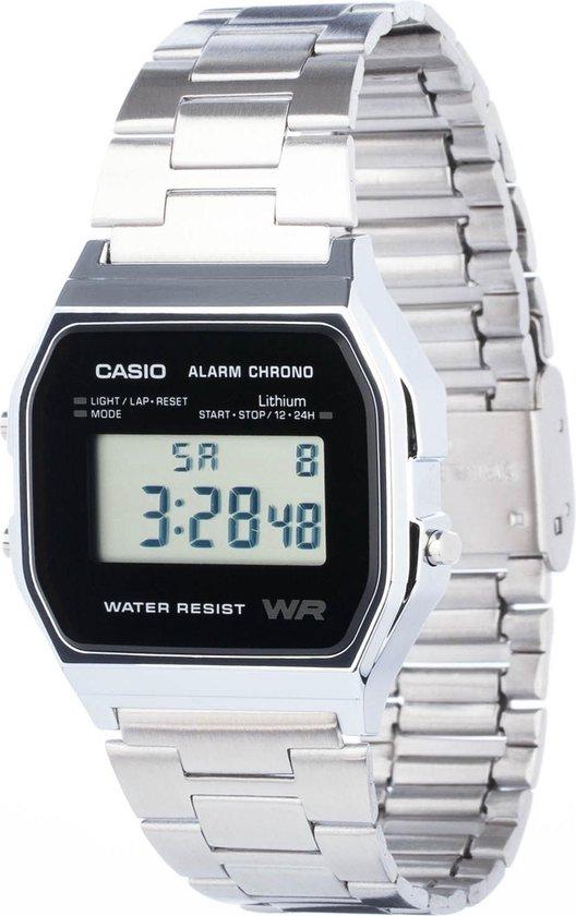 Casio Collection A158WEA-1EF - Horloge - Staal - Zilverkleurig - Ø 33.2 mm