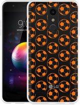 LG K30 Hoesje Orange Soccer Balls
