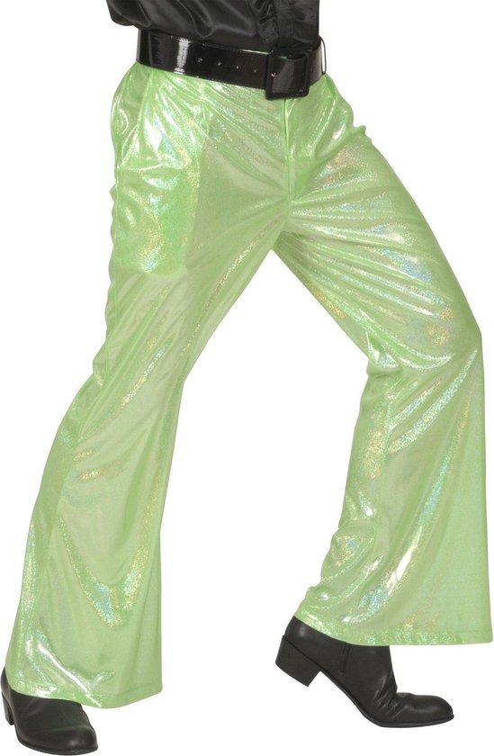 Groene glitter disco broek voor mannen - Volwassenen kostuums