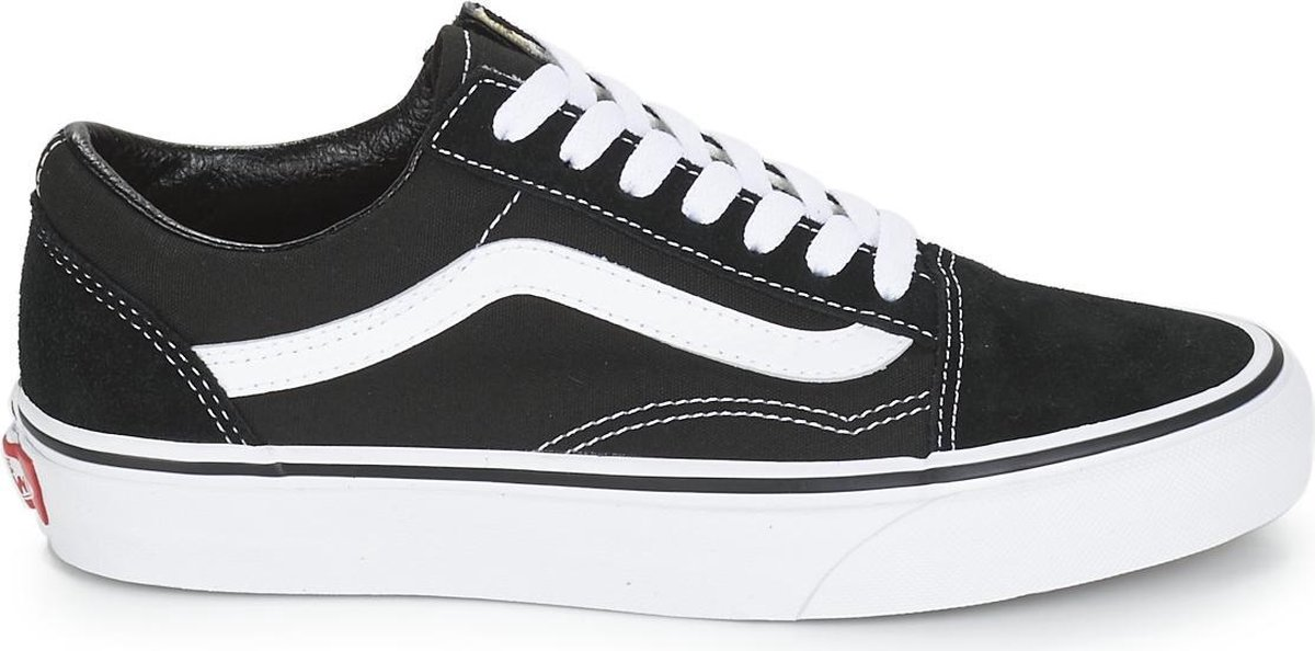 Vans Old Skool Sneakers - Unisex - Zwart/Wit - Maat 38.5