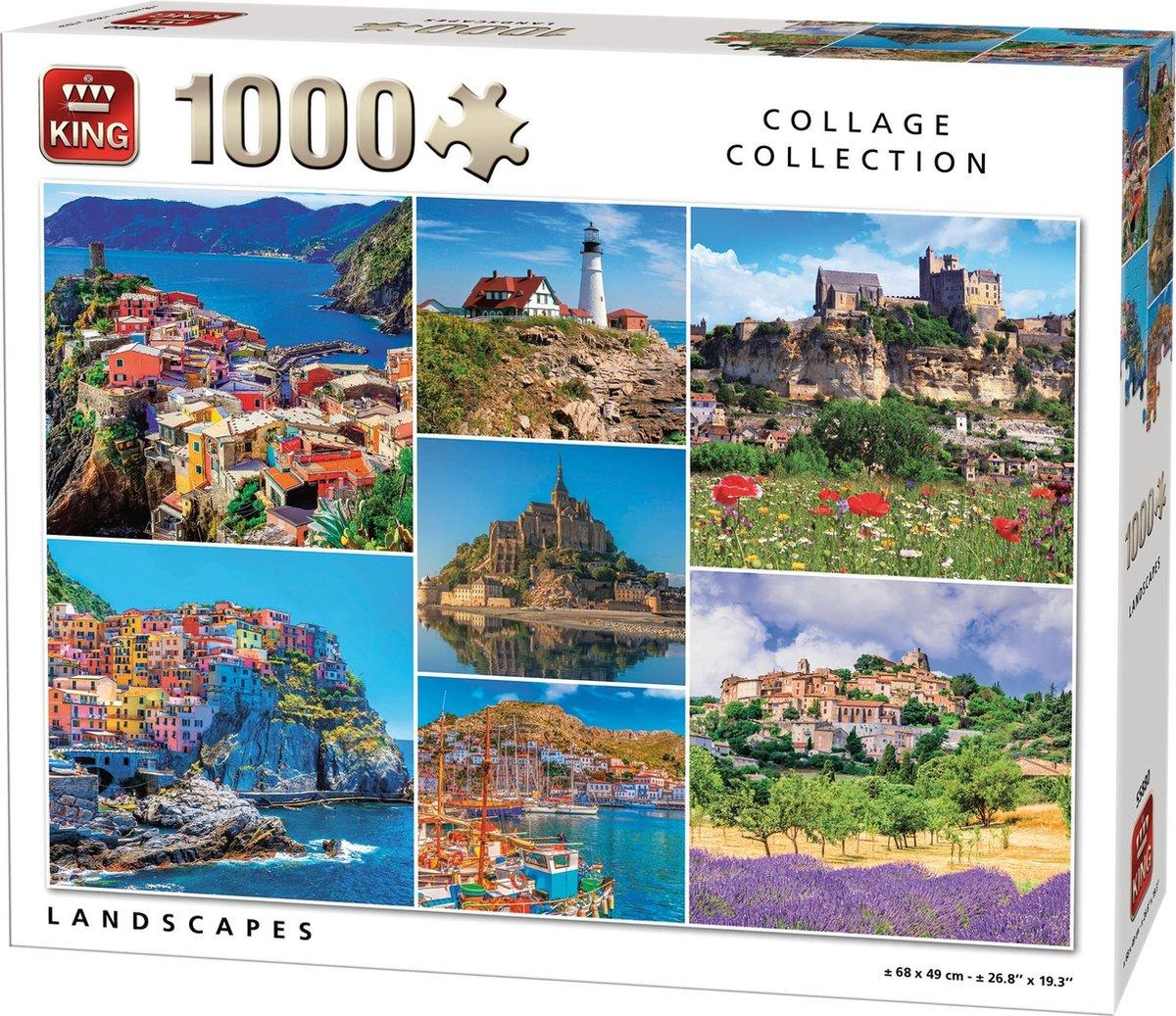bol.com | King Puzzel 1000 Stukjes - Landschappen Collage