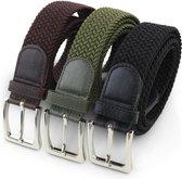 Safekeepers elastische riem  3 Pack Zwart Bruin en Groen