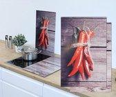 Haushalt 28013 - Afdek kookplaten - 2 stuks - rode pepers
