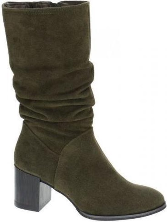 Groene suede over knee laarzen mt 39