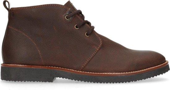 Manfield - Heren - Donkerbruine desert boots - Maat 42