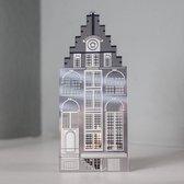 Invotis waxinelicht houder metaal huisje Amsterdam - Uitvoering - Trapgevel