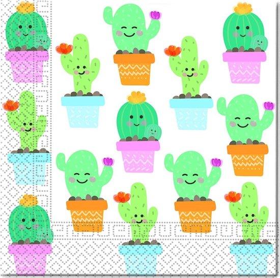 Procos Servetten Cactus 20 Stuks 33 Cm
