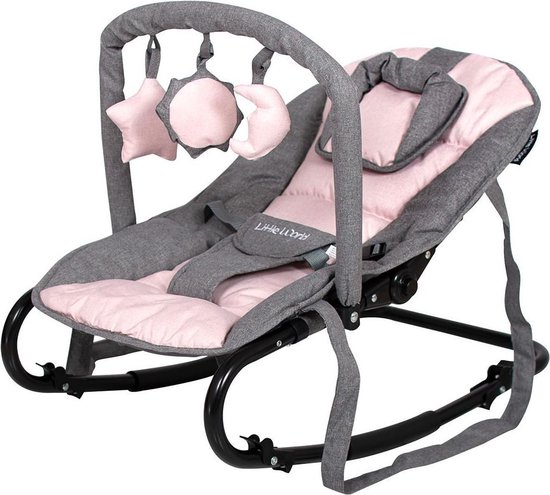Product: Little World Wipstoel Starwing Grey Pink, van het merk Little World