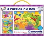 Galt Legpuzzel 4-in-1 Dinosaurussen 12-16-20-24 Stukjes