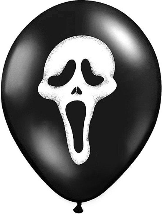PARTYDECO - 6 Scream ballonnen - Decoratie > Muur-, deur- en raamdecoratie