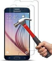 Samsung Galaxy S6 Edge Screenprotector Glas - Tempered Glass Screen Protector - 2x