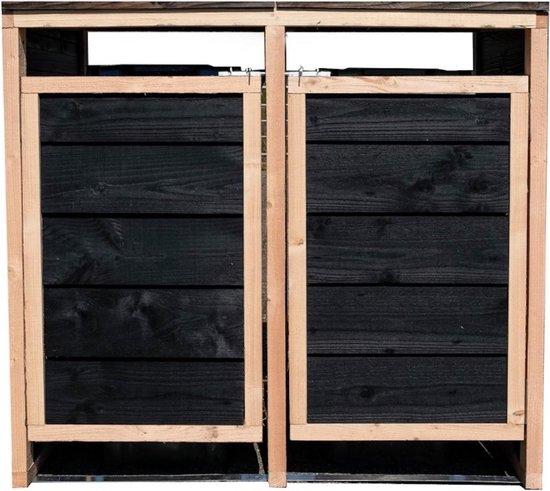 Containerombouw   Kliko ombouw   Containerberging - 2 stuks, zwart douglas