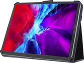 IPad Pro 11 Inch 2020; Stand Smart Case voor uw Apple IPad Pro 11 Inch 2020,Zwart luxe handgemaakt hoesje in business uitvoering