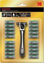 Kodak Ultra Razor Scheermes + 20 Extra Mesjes - Zweeds staal