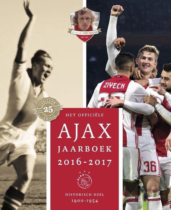 Boek cover Ajax Jaarboek 25 -   Het officiële Ajax Jaarboek 2016-2017 van Ronald Jonges (Hardcover)