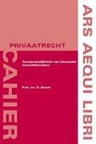Ars aequi cahiers privaatrecht  -   Aansprakelijkheid van financiële toezichthouders