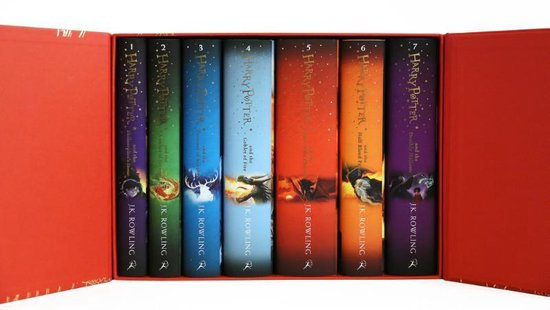 Boek cover Harry Potter boxset (1-7) van J.K. Rowling (Onbekend)