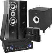 """Home Cinema set van Fenton met Bluetooth, 5 speakers (zwart), een 10"""" actieve subwoofer en"""