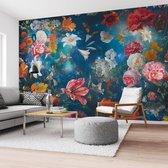 Bloemenwereld Bloemen - Planten - Kleurrijk - Fotobehang 384 x 260 cm Vlies
