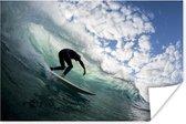 Poster - Surfer op golfen - 60x40 cm