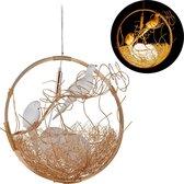 relaxdays pendellamp vogelnest - hanglamp vogel - 2-lichts - eetkamerlamp - G9 fitting