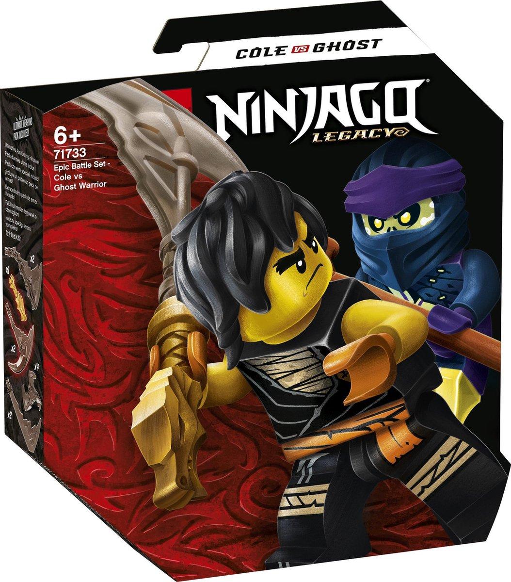 LEGO NINJAGO Epische Strijd Set Cole tegen Spookstrijder - 71733