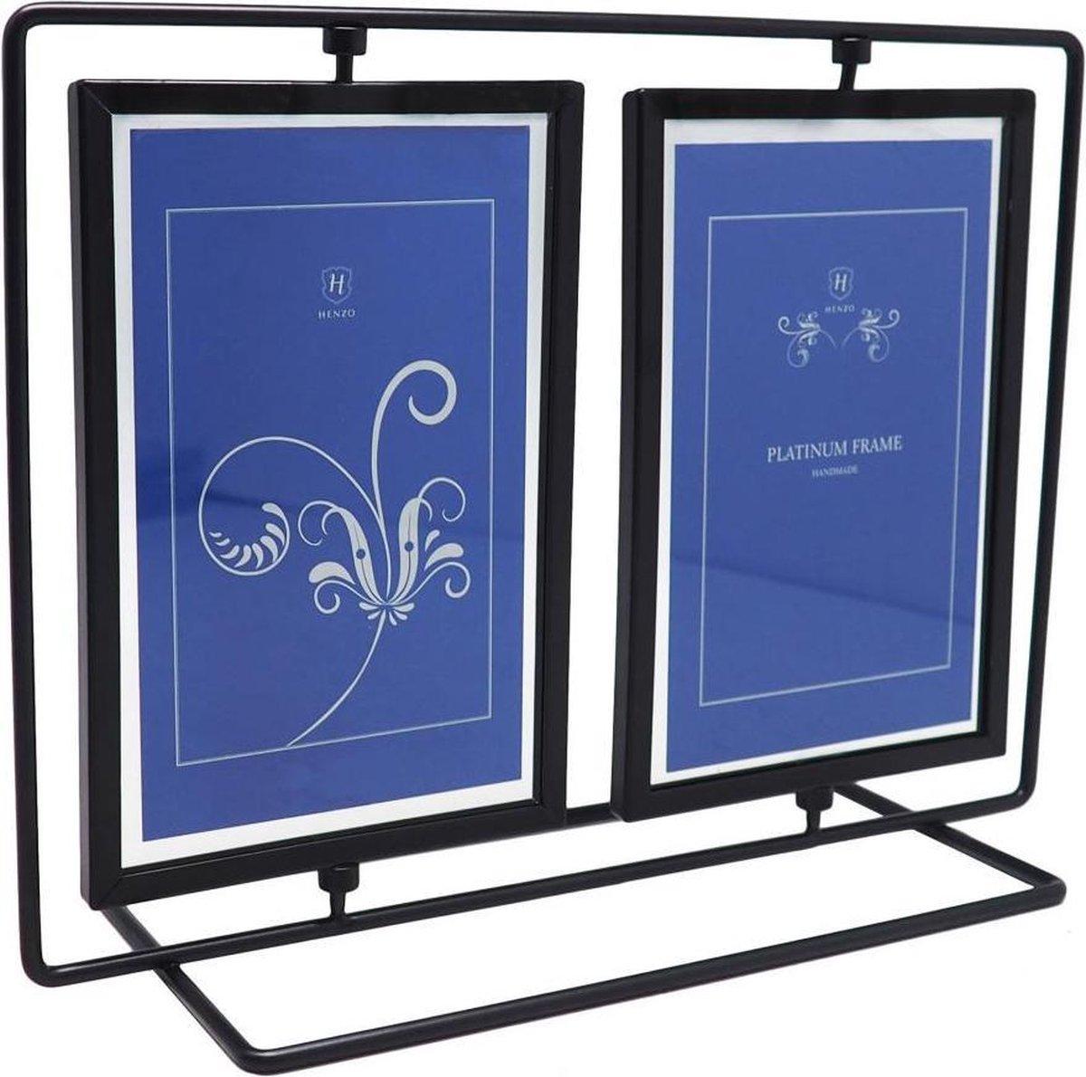 Fotolijst - Henzo - Platinum Double Swing - Collagelijst voor 2 foto's - Fotomaat 10x15 cm - Zwart