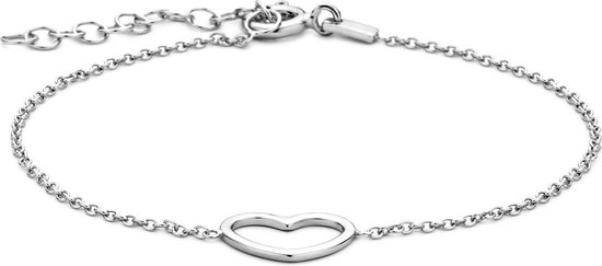 Glams Armband Hart 1,3 mm 16 + 3 cm - Zilver - GLAMS
