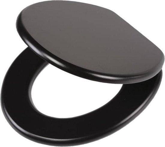 Tiger Leatherlook wc-bril - MDF - Zwart
