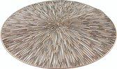 6x stuks Ronde placemats goud geponst 38 cm - Tafeldecoratie - Borden onderleggers van kunststof