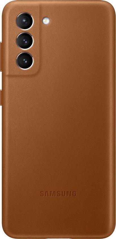 Samsung Leather Hoesje - Samsung S21 - Bruin