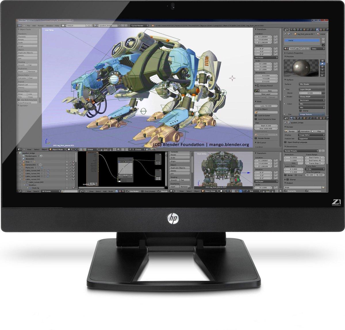 "HP Z1 G2 3.3GHz E3-1226V3 27"" 2560 x 1440Pixels Zwart, Zilver All-in-One workstation"