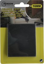 Hofftech Deurstopper / Deurwig Rubber 16 mm. Zwart