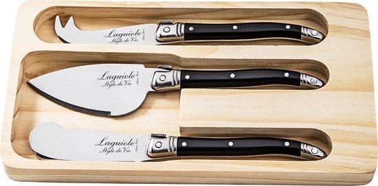 Laguiole Style de Vie Kaasmessenset Premium Line - 3-delig - Zwart