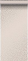 ESTAhome behang panterprint zacht roze en goud - 139273 - 0.53 x 10.05 m