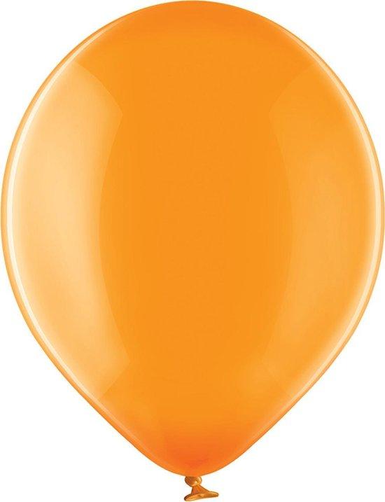 Ballonnen - Oranje - Crystal - 30cm - 100st.