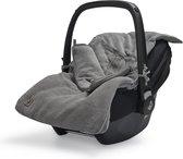 Jollein Voetenzak voor Autostoel & Kinderwagen - Basic Knit - Stone Grey