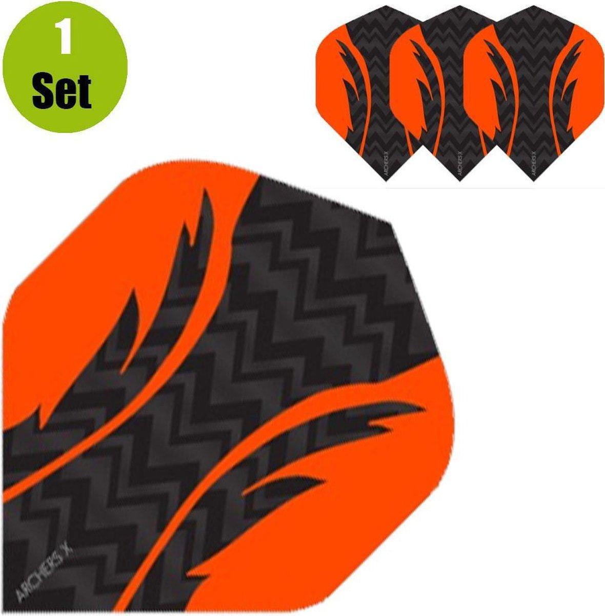 Archers X Pro Dartflights Zwart - Oranje- ()