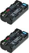 ChiliPower Sony NP-F550 / NP-F330 / NP-F570 camera batterij - 2 stuks verpakking