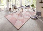 Binnen & buiten vloerkleed Sevres Elle Decor - roze 140x200 cm