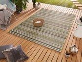 Binnen & buiten vloerkleed Bamboo - groen/taupe 80x240 cm