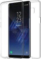 Samsung Galaxy S8 Plus Hoesje - Dubbelzijdig TPU Case 360 Graden Cover - 2 in 1 Case ( Voor en Achter) Transparant
