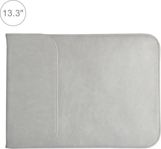 Let op type!! 13 3 inch PU + nylon laptop tas Case Sleeve notebook draagtas  voor MacBook  Samsung  Xiaomi  Lenovo  Sony  DELL  ASUS  HP (grijs)