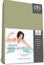 Bed-Fashion Mako jersey hoeslaken Groen 80 x 210 cm